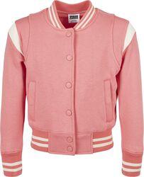 Girls Inset College Sweat Jacket