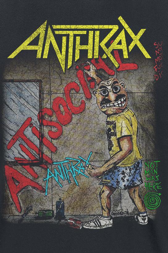 Image of Anthrax Anti-Social T-Shirt schwarz