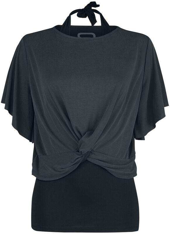 T-Shirt mit Neckholder-Top