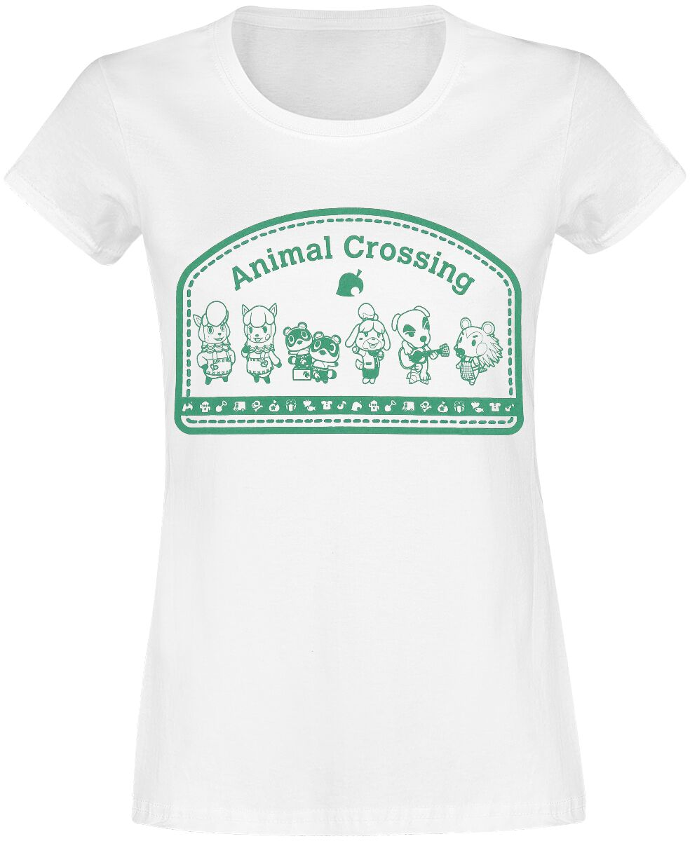 Image of Animal Crossing Characters Girl-Shirt weiß