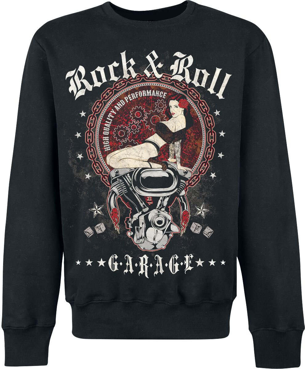 R'n'R Garage   Sweatshirt  schwarz