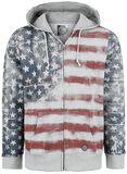 US Flag Hoodie Jacket