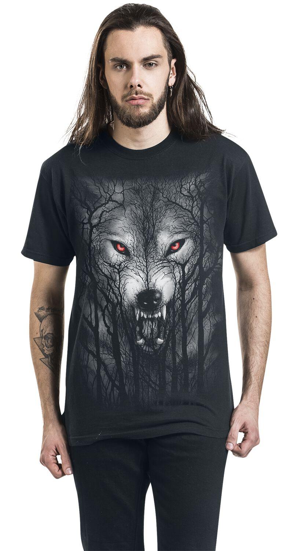 Spiral Forest Wolf Männer Kapuzenjacke schwarz