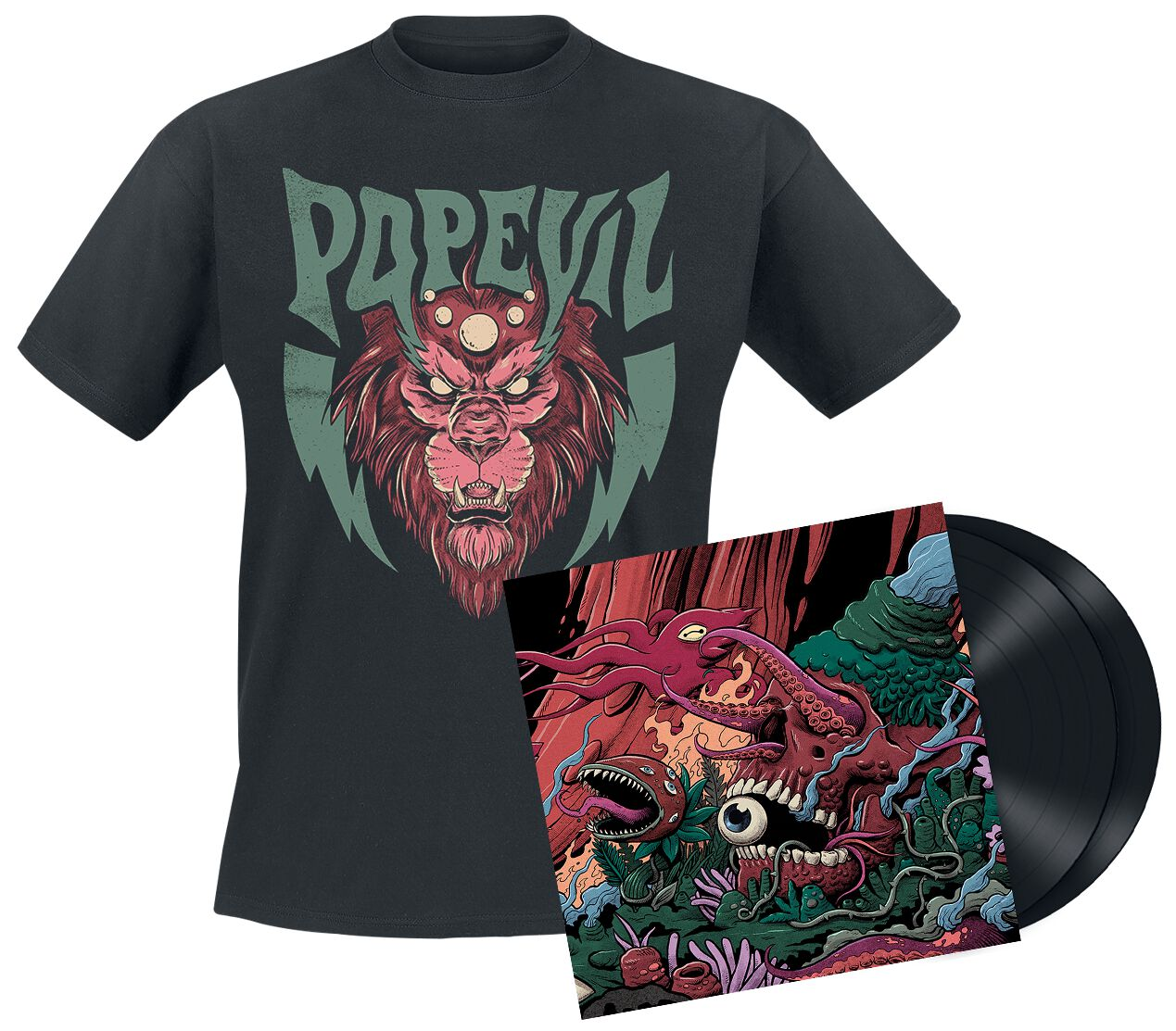 Image of Pop Evil Versatile 2-LP & T-Shirt schwarz