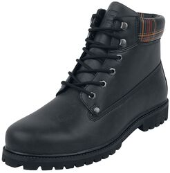 Schwarze Boots mit Farbmuster