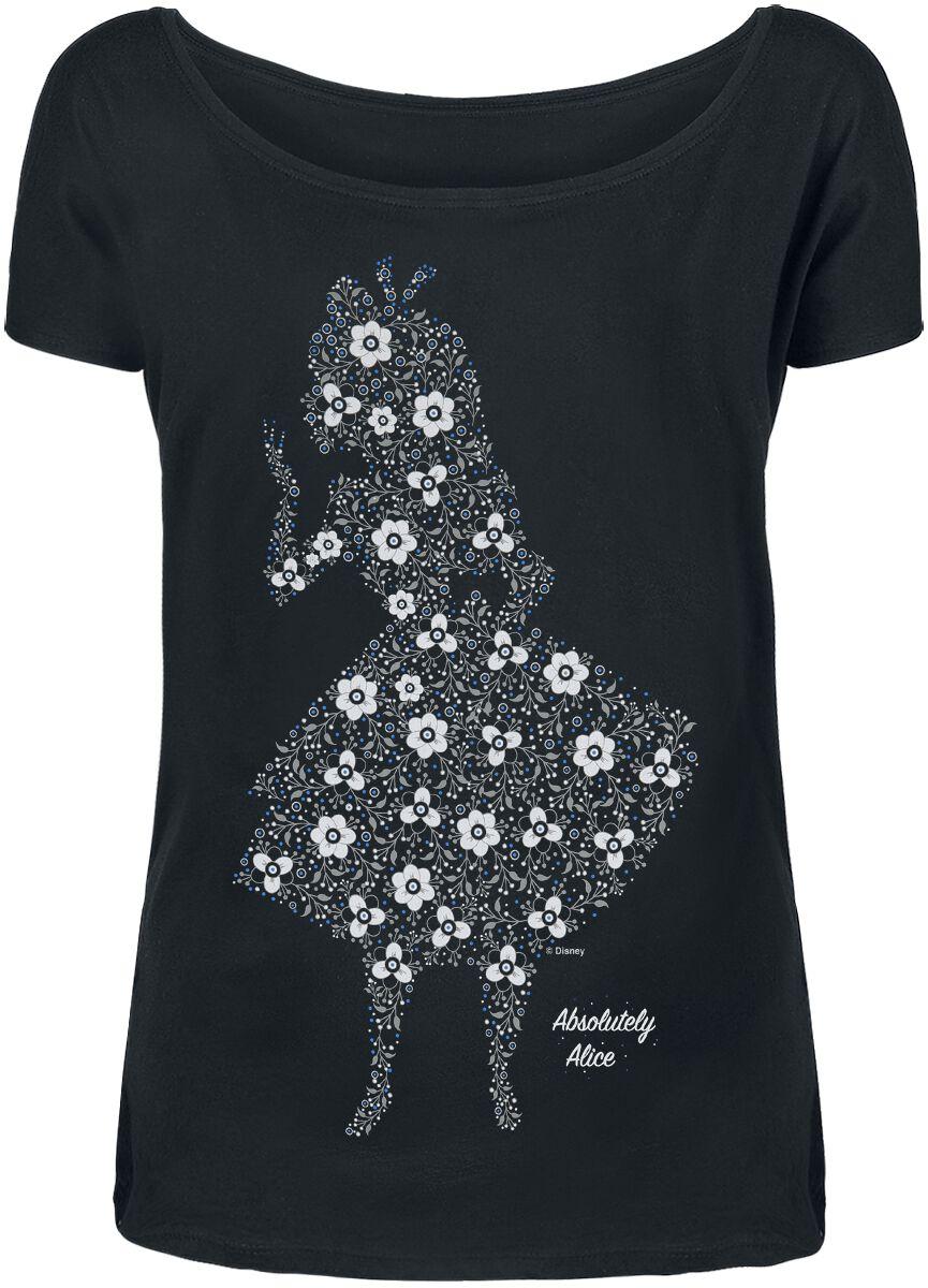 Image of Alice im Wunderland Absolutely Alice Girl-Shirt schwarz