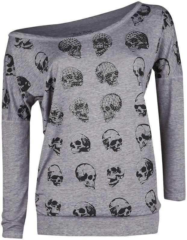 Langarmshirt mit Skullprint