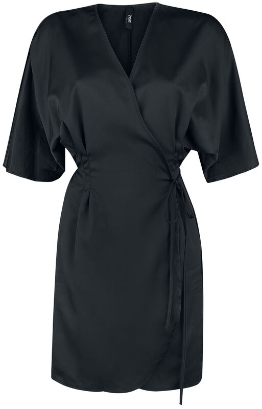 Schwarzes Wickelkleid Black Premium
