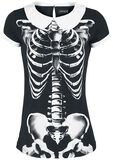 Skeleton Peter Pan Collar Shirt