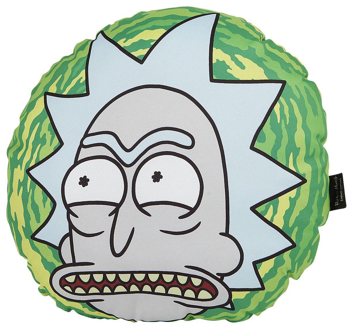 Rick And Morty Portal  Kissen  grün