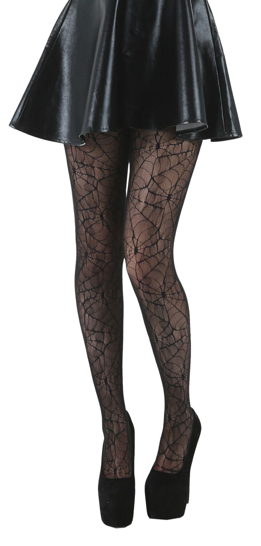 Strumpfhosen - Pamela Mann Cobweb Lace Strumpfhose schwarz  - Onlineshop EMP