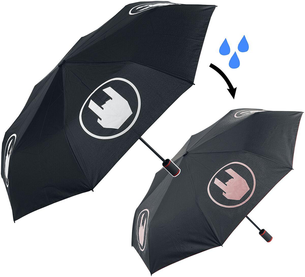 EMP Special Collection Regenschirm mit Farbwechsel Regenschirm schwarz weiß 5084 EMP