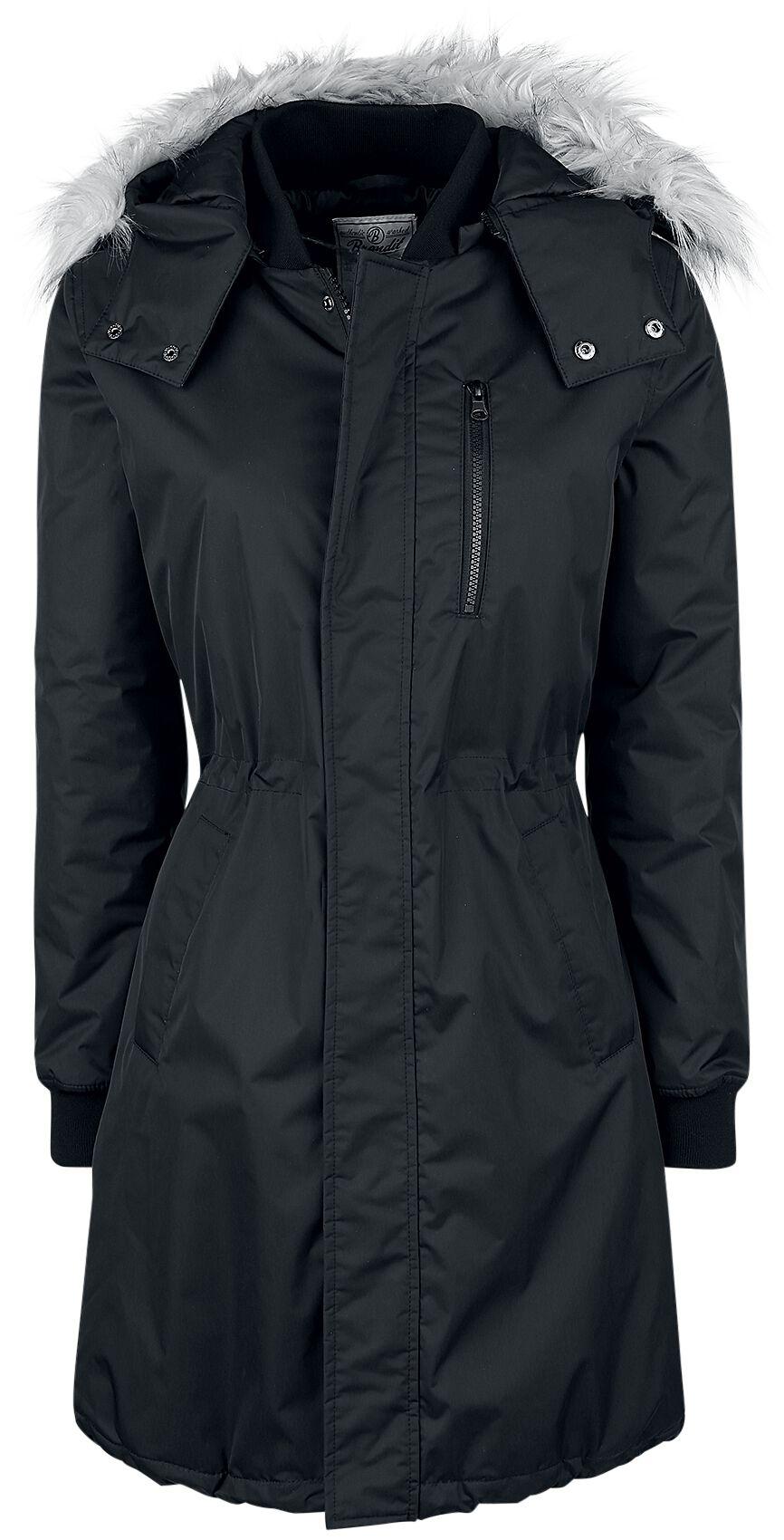 Jacken für Frauen - Brandit Ava Wintermantel schwarz  - Onlineshop EMP
