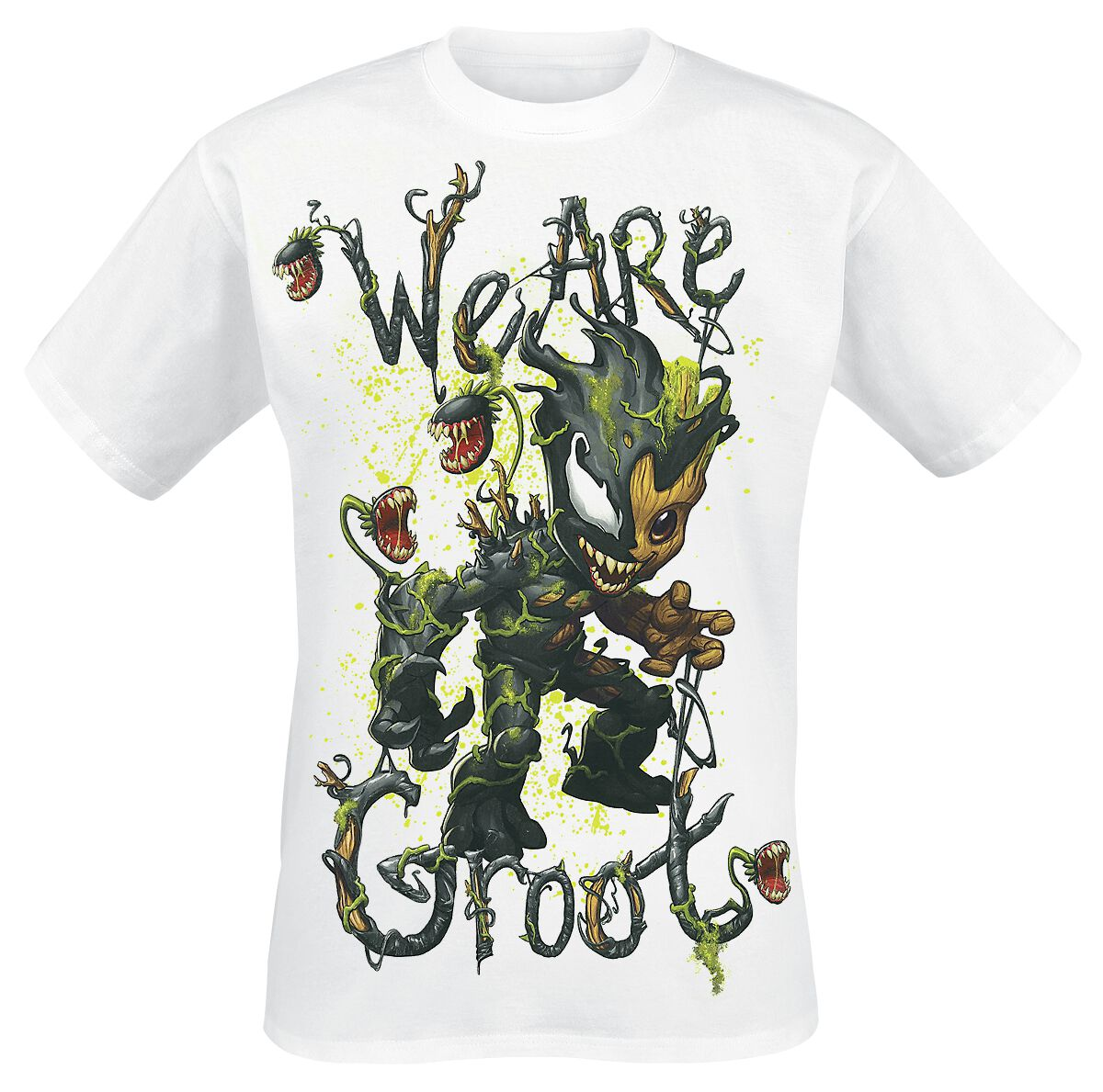Marvel Venomized Groot - We Are Groot T-Shirt weiß 130955003