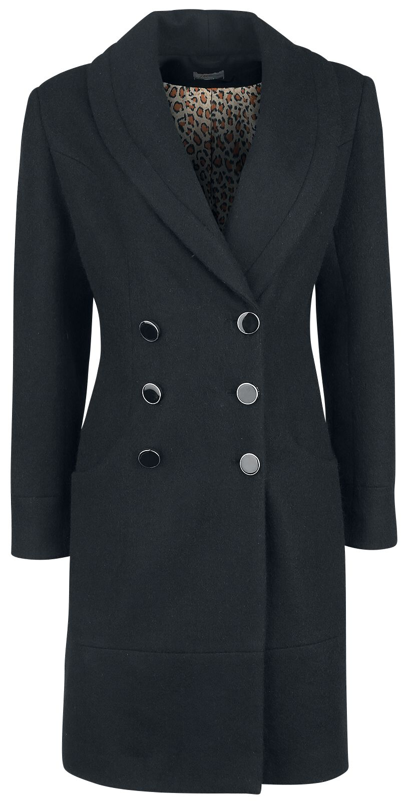 Image of Banned Retro Rocking Coat Cappotto donna nero