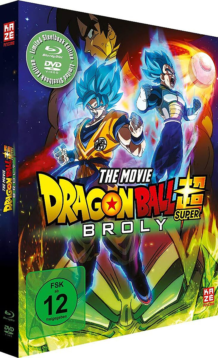 Image of Dragon Ball Super - Broly - Limited Steelbook Edition Blu-ray & DVD Standard