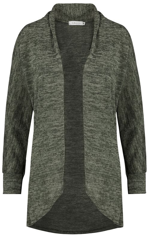 Ladies Jersey Melange Cardigan