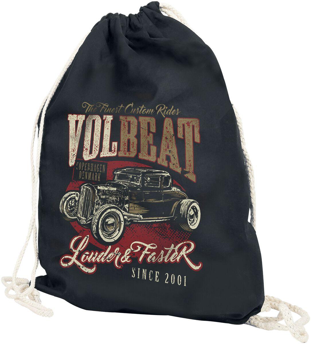 Sporttaschen - Volbeat Louder And Faster Turnbeutel schwarz  - Onlineshop EMP
