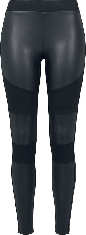 Ladies Fake Leather Tech Leggings