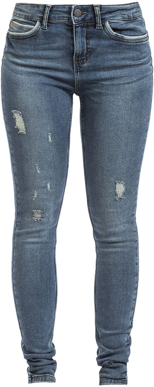 Hosen für Frauen - Noisy May Lucy NW Piping Dest Jeans VI881 Jeans blau  - Onlineshop EMP