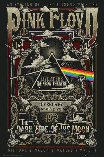 Pink Floyd Rainbow Theatre Poster multicolor LP2109