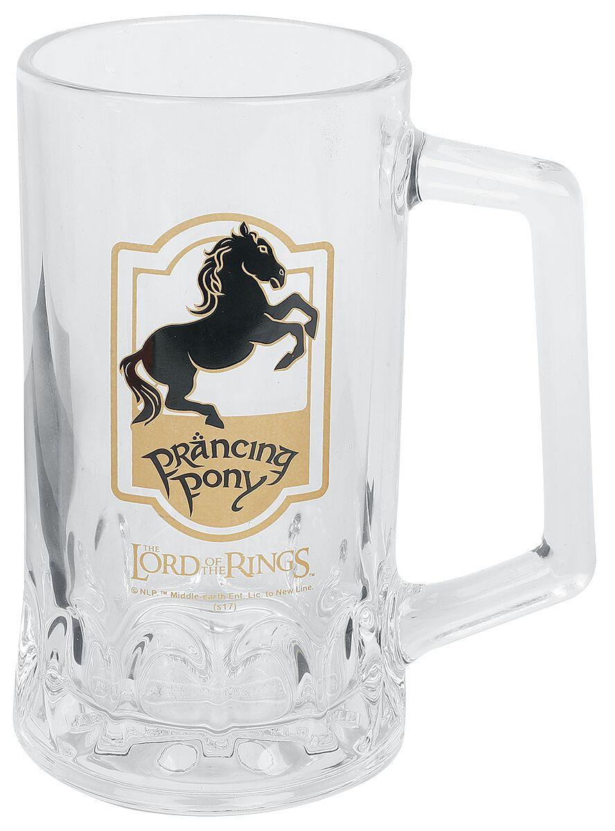 Image of Der Herr der Ringe Prancing Pony Bierkrug klar
