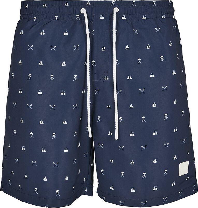 Pattern Swim Shorts - Skulllandyacht AOP