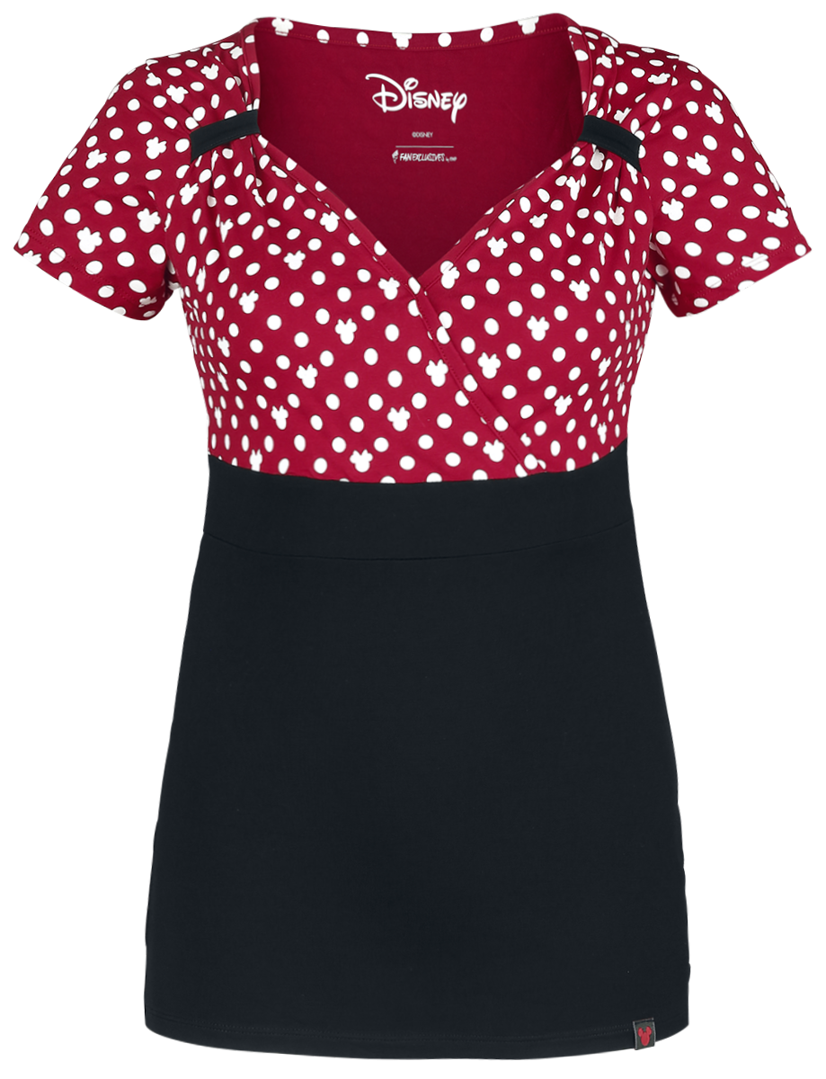 Mickey Mouse - Minnie Polka Dots - Girls shirt - red-black-white image