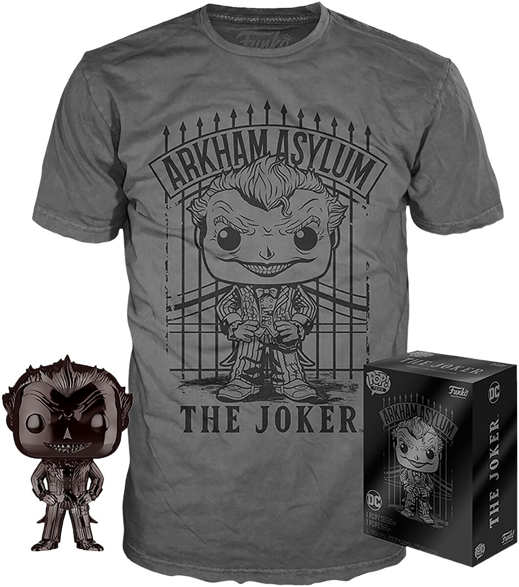 The Joker Chrome Joker T-Shirt plus Funko - Fan Paket  Fanpaket  Standard