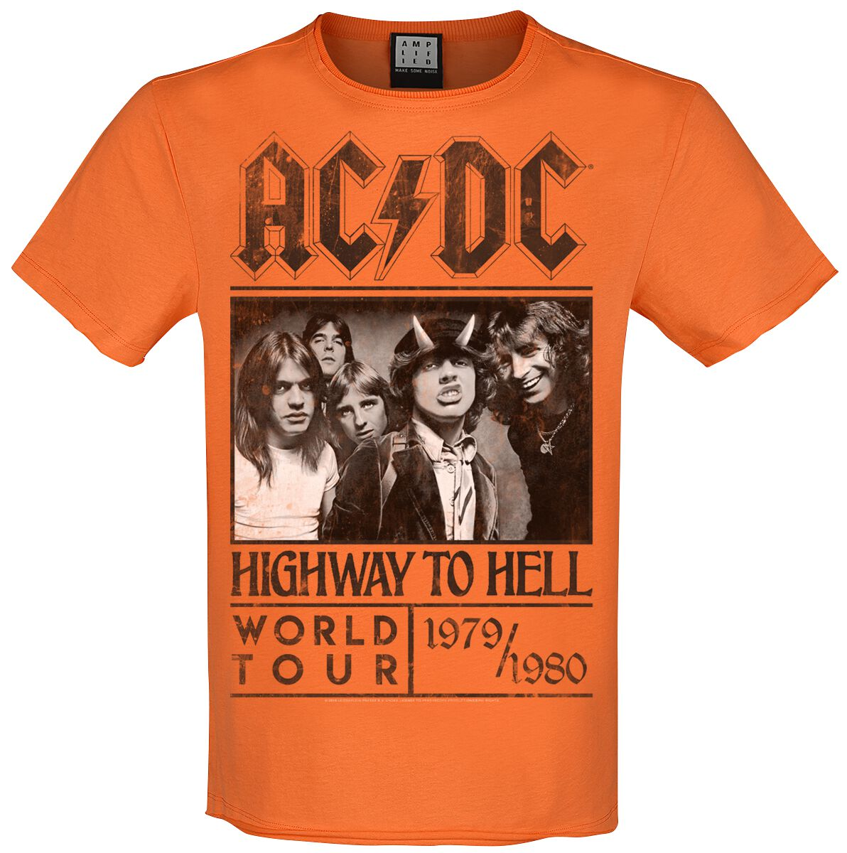 Image of AC/DC Amplified Collection - Highway To Hell T-Shirt orange