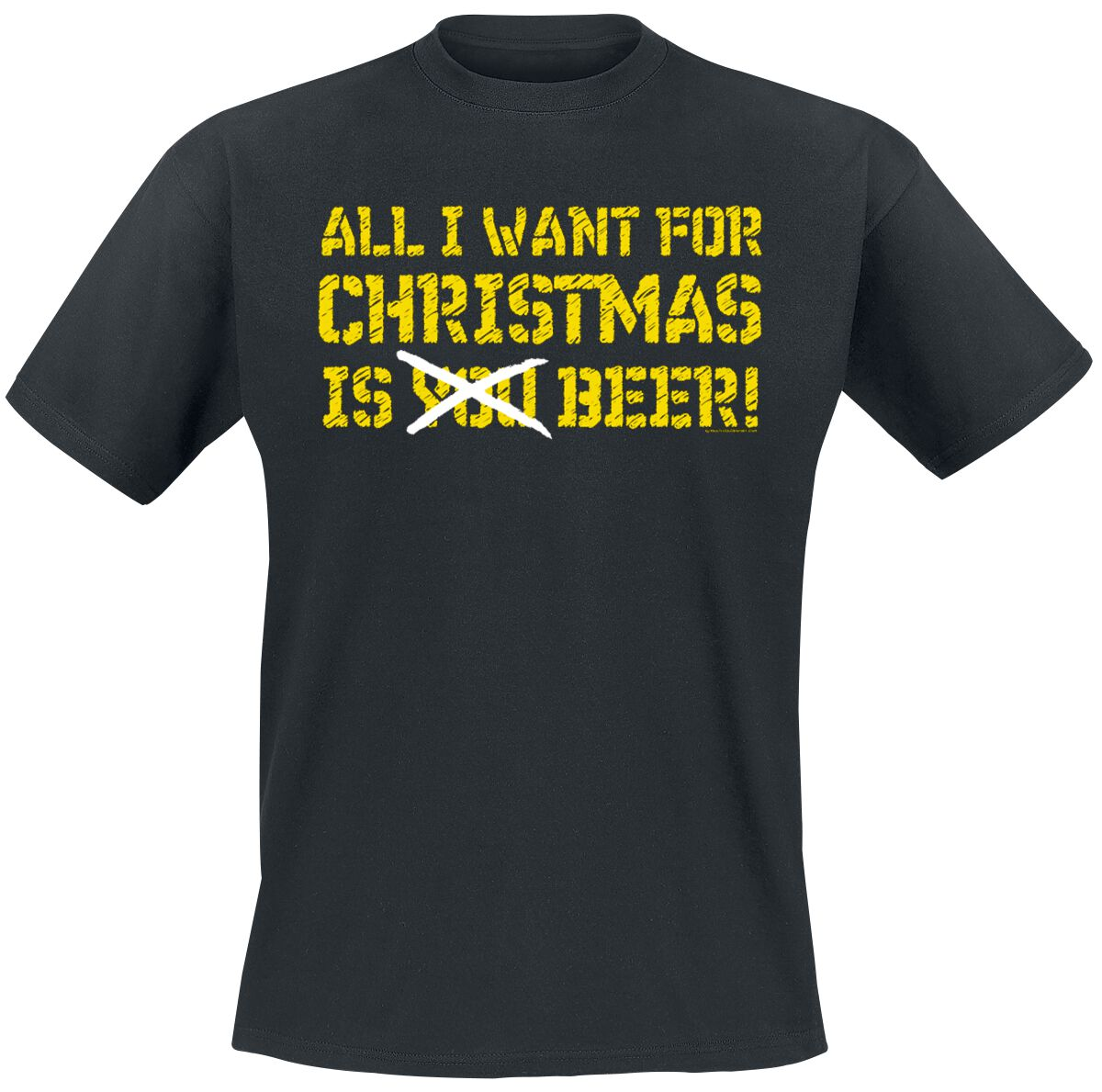 Image of All I Want For Christmas Is Beer T-Shirt schwarz