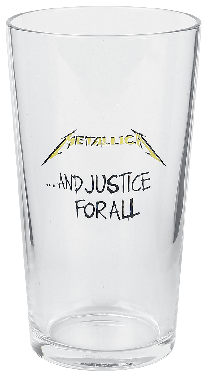 Metallica - And Justice For All - Pint-Glas - klar