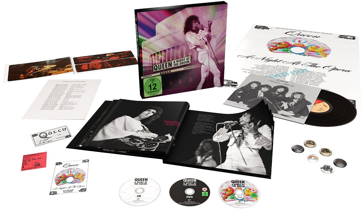 Image of Queen A night at the Odeon - Hammersmith 1975 CD & DVD & Blu-ray & Single & Buch Standard