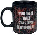 With Great Power - Tasse mit Thermoeffekt