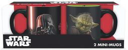Vader vs Yoda -  Espresso Tassen-Set