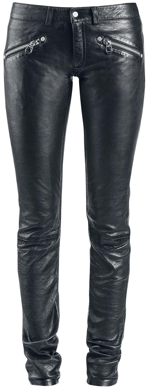 Hosen für Frauen - Gipsy ZipaTrouser SNVV Lederhose schwarz  - Onlineshop EMP