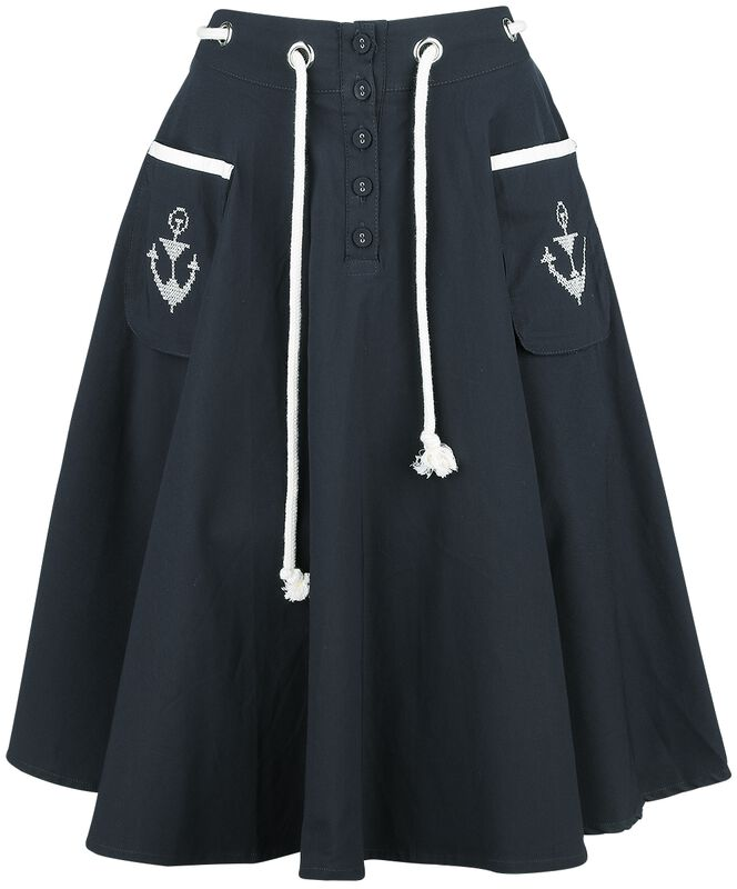 Florence Anchor And Rope Flare Skirt