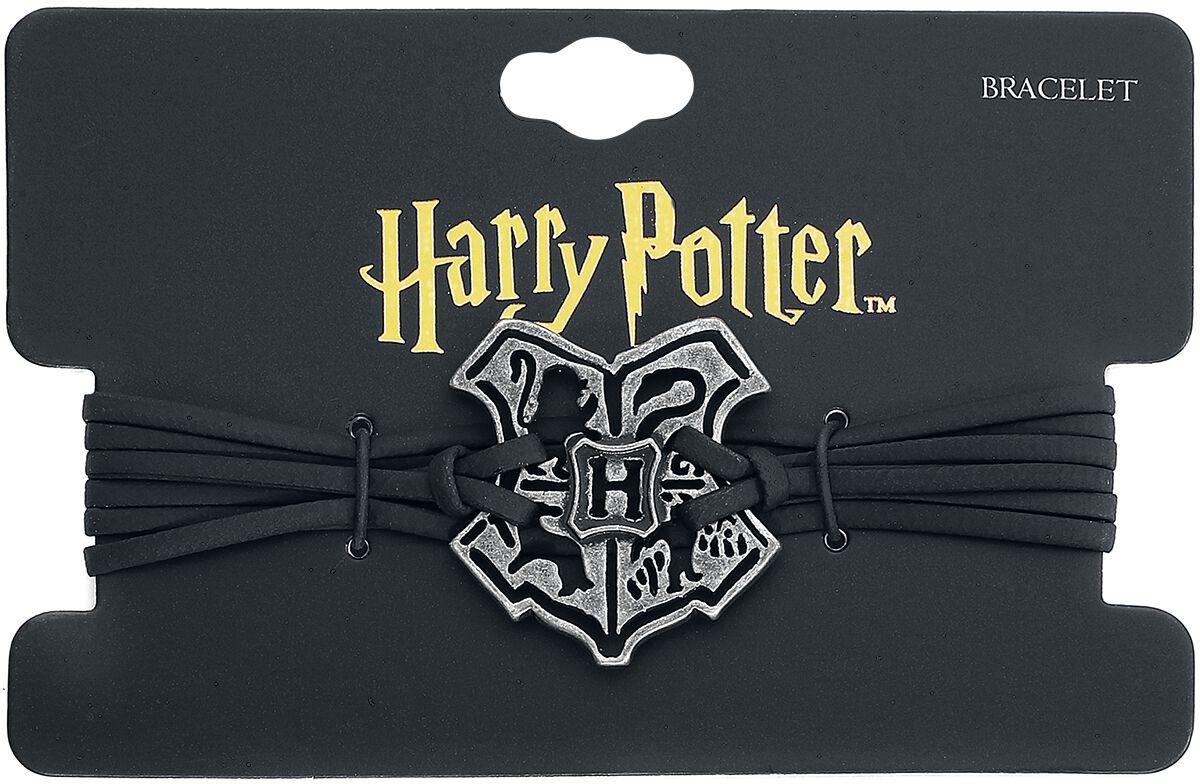 Harry Potter Cut Out Hogwarts Wappen Braccialetto Nero/argento Buono Per L'Energia E La Milza