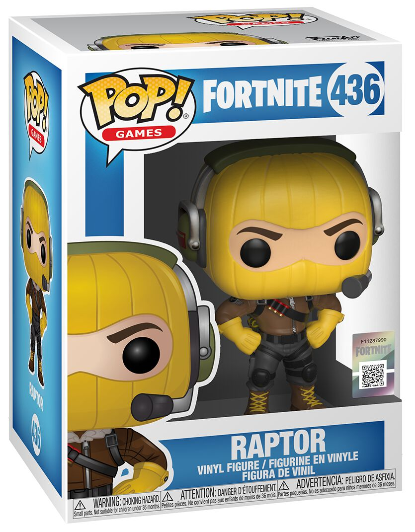 Raptor Vinyl Figure 436 Fortnite Funko Pop Emp