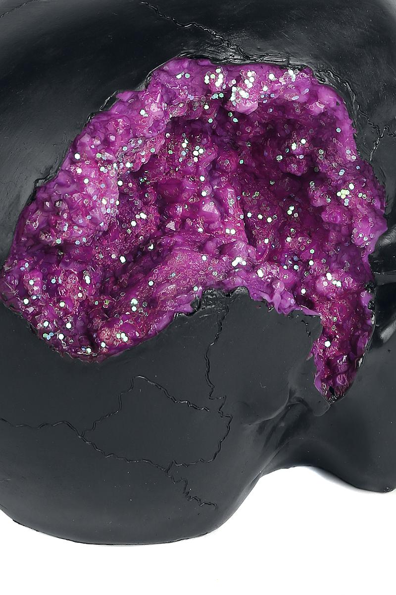 Image of Nemesis Now Geode Skull Deko-Schädel schwarz
