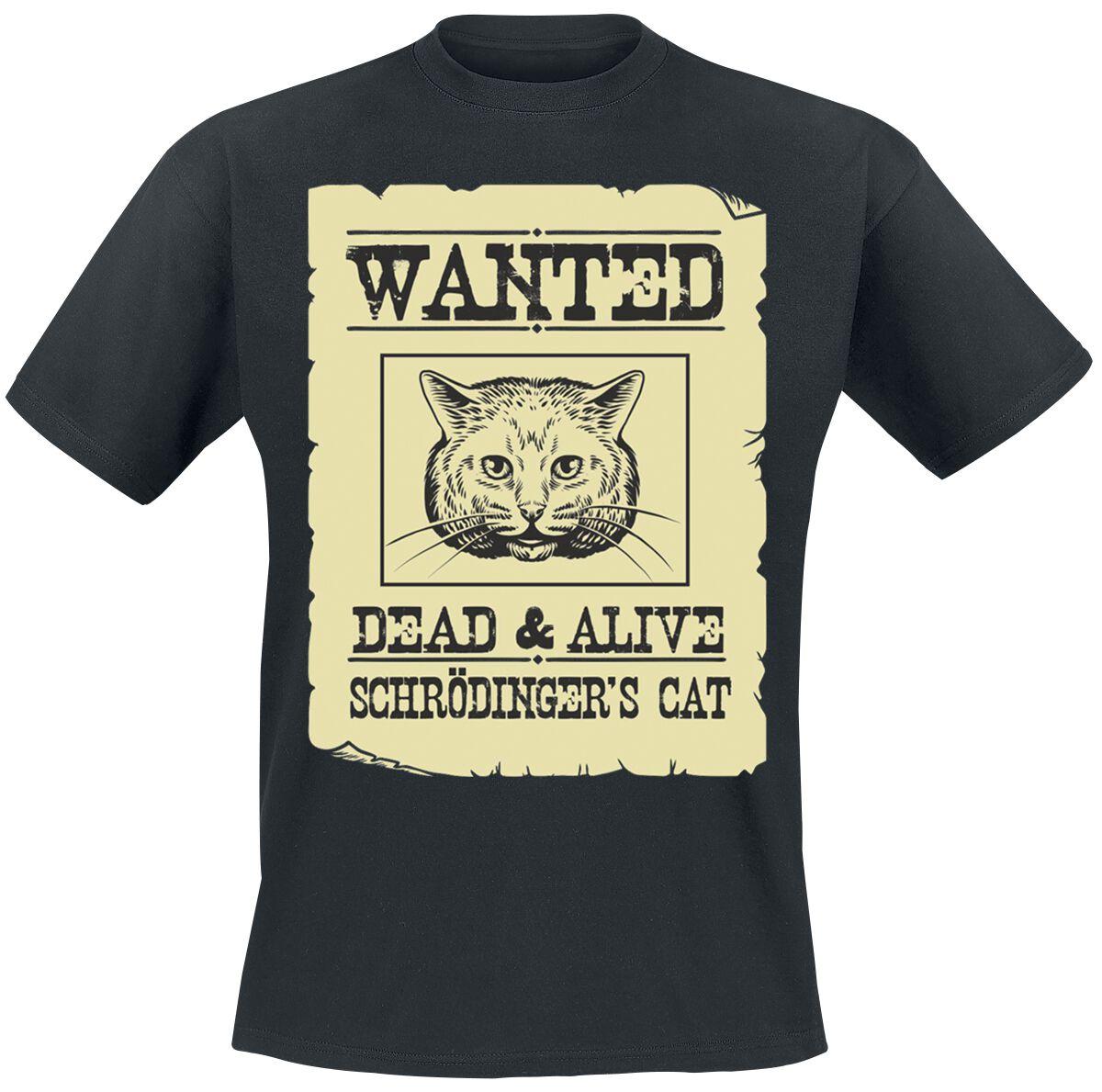Schrödinger's Cat T-Shirt schwarz 4172