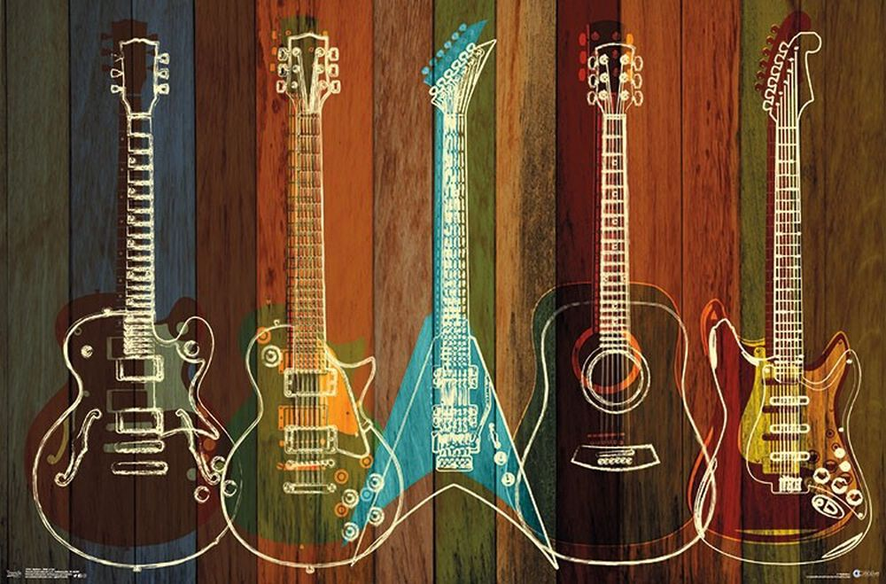 Guitars Wall of Art