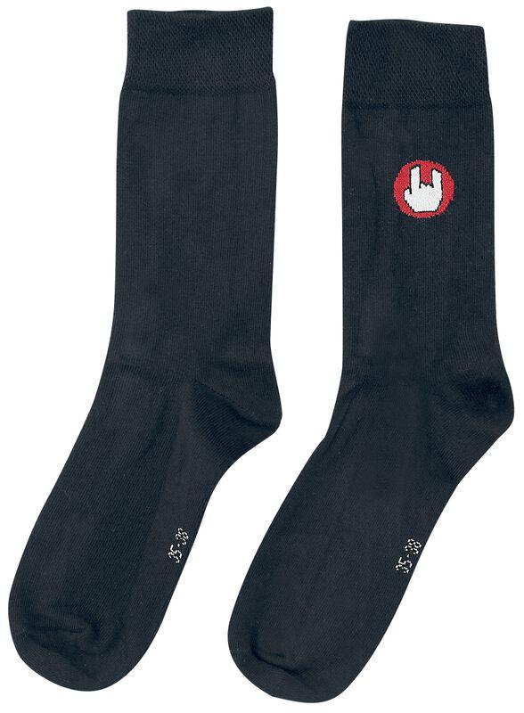 Schwarze Socken mit EMP-Logo