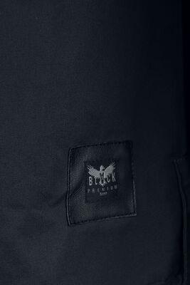 Schwarzes Hemd mit Brusttaschen im Military Style