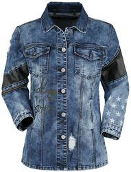 Rockige Jeansjacke