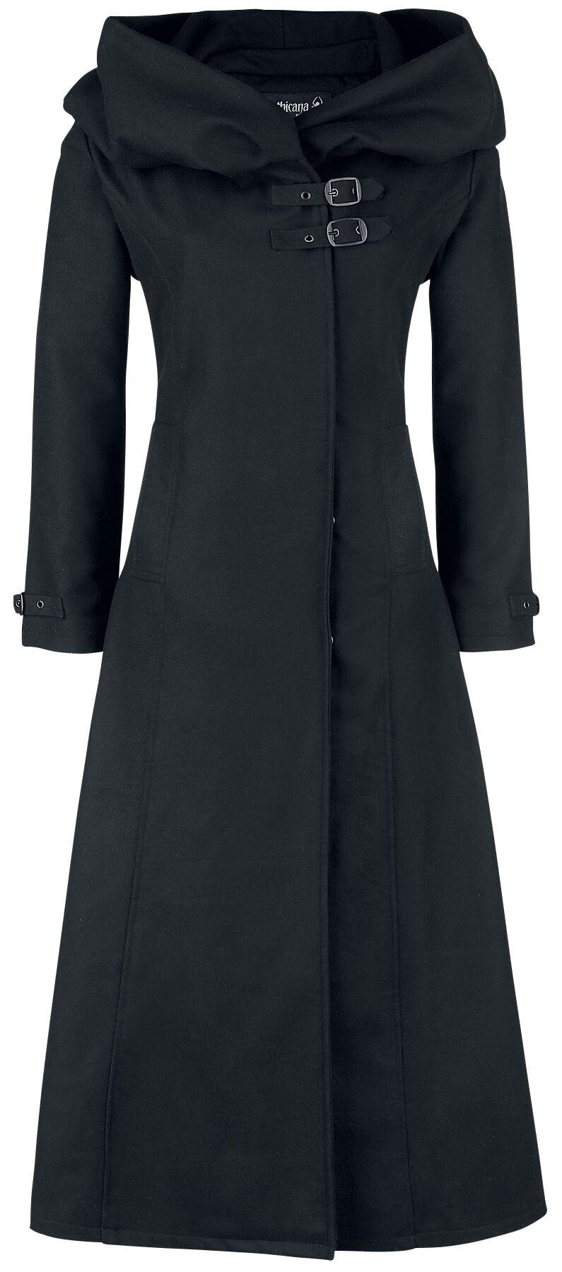 Jacken für Frauen - Gothicana by EMP Cinderella Wollmantel schwarz  - Onlineshop EMP