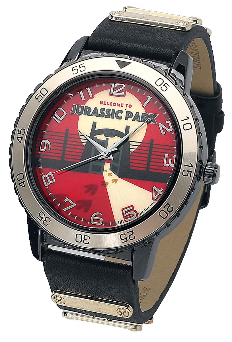 Jurassic Park - Jurassic Park Logo - Armbanduhren - schwarz