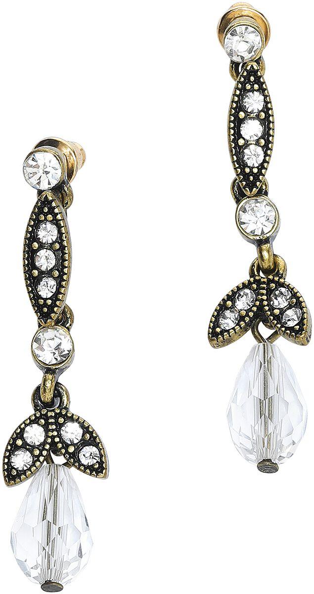 Lovett & Co. Lula Crystal Drop Earrings Ohrring goldfarben 10582