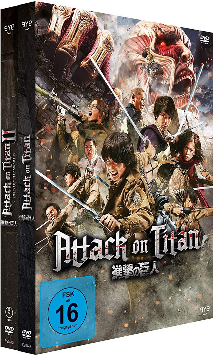 Image of Attack On Titan Film 1 & 2 2-DVD Standard