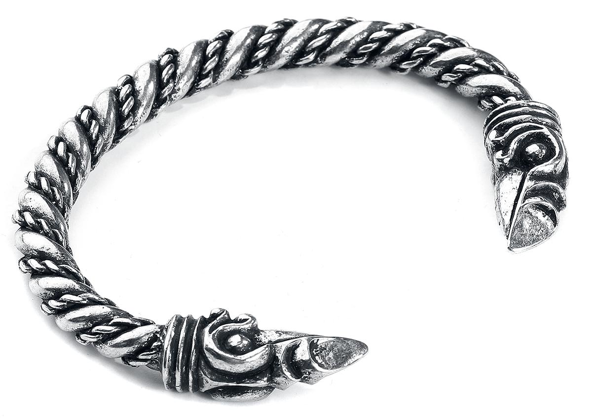 Image of Asgard Large Odin's Raven Bracelet Armreif silberfarben